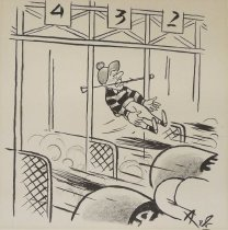 Image of [Jockey Stuck in Starting Gate] - Bellocq, Pierre, 1926-